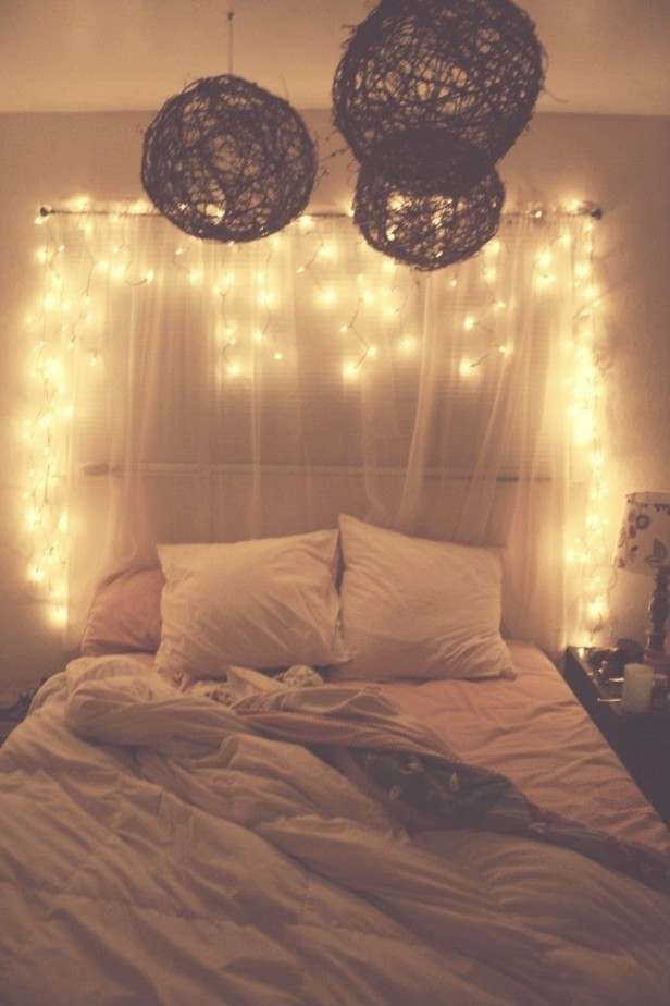 Chicago Apartments, DIY Projects, Light Up Curtain Headboards
