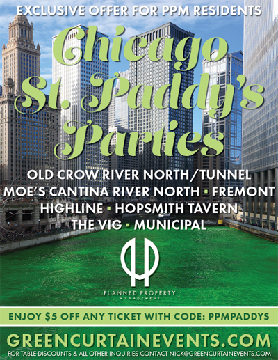 Chicago Apartments, St. Patrick's Day