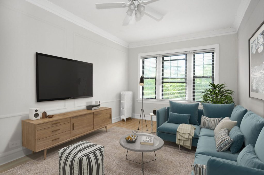 Chicago Apartments, Lakeview, 1049 W Oakdale Living Room