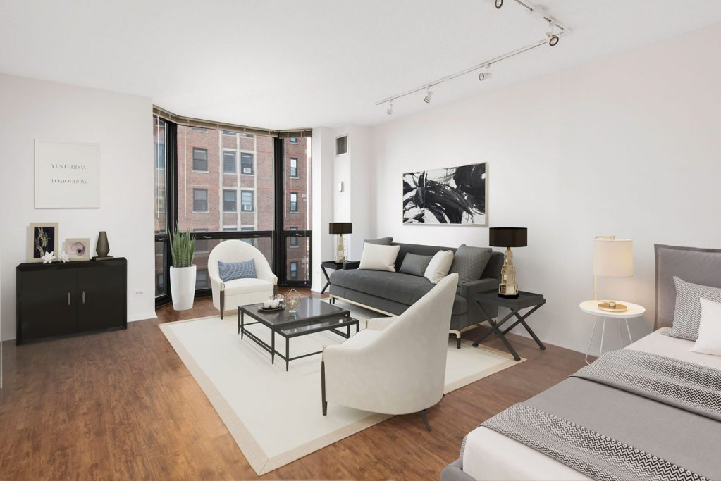 1111 N Dearborn Studio with Space Interior Chicago Apartments Gold Coast - 1