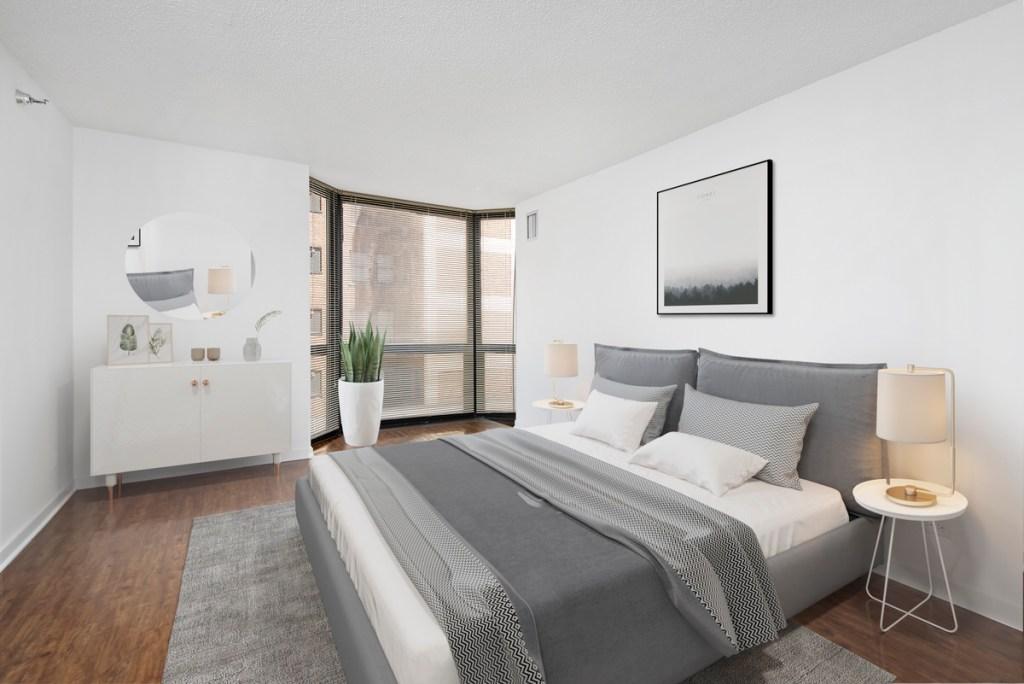 1111 N Dearborn Chicago Apartment Interior Bedroom 1
