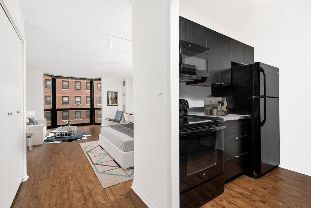 1111 N Dearborn Studio with Space Interior Chicago Apartments Gold Coast - 3
