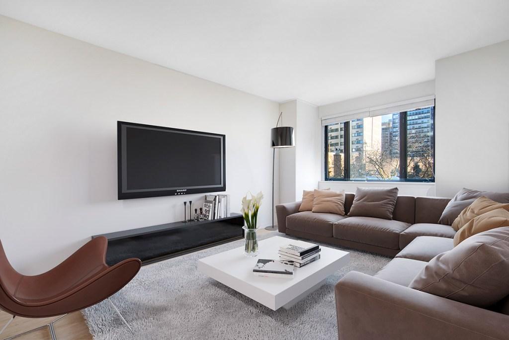 20 E Scott Living Room Interior Chicago Apartments Gold Coast - 2