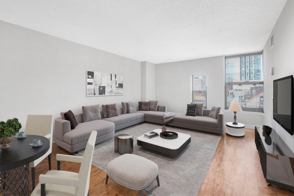 100 W Chestnut Chicago Apartment Interior Living Room 1