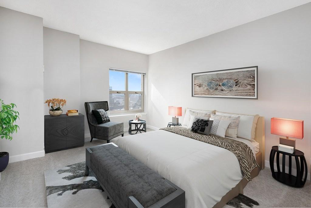 100 W Chestnut Bedroom Interior Chicago Apartments River North - 1