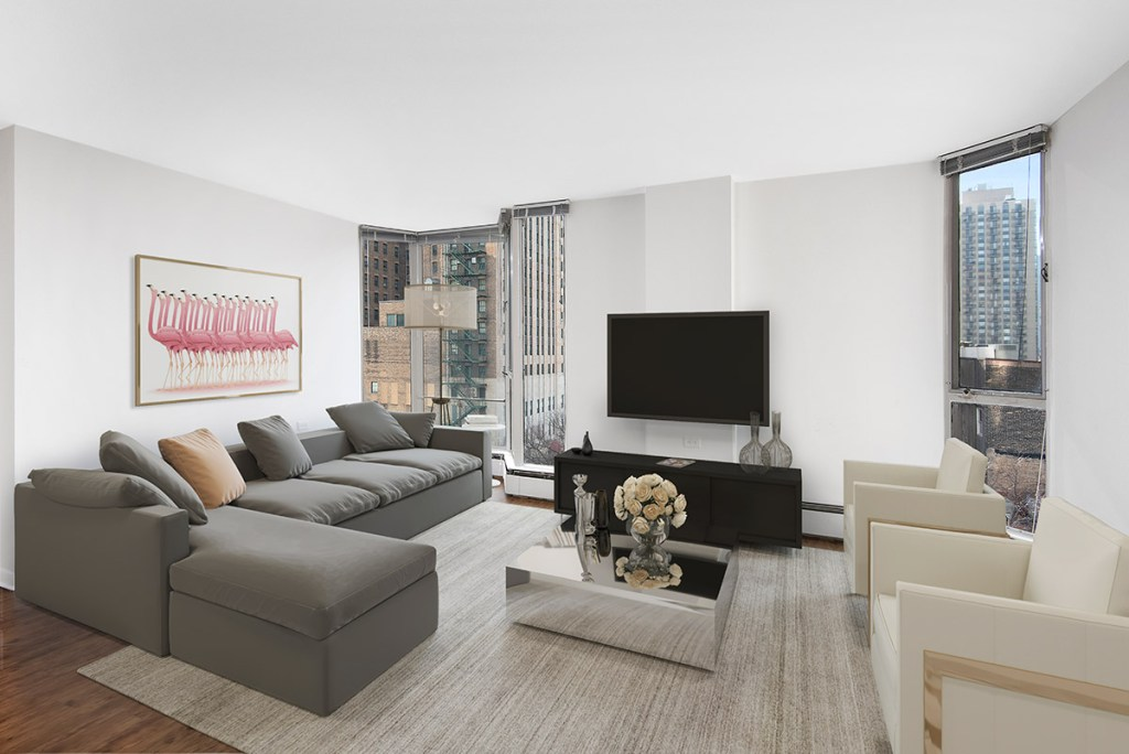 55 W Chestnut Living Room Interior Chicago Apartments River North - 5