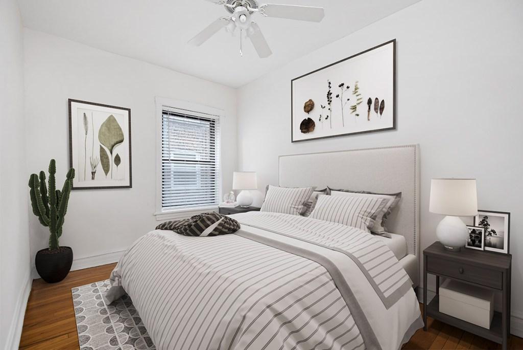 Chicago Apartments, Lakeview, 640 W Cornelia Bedroom