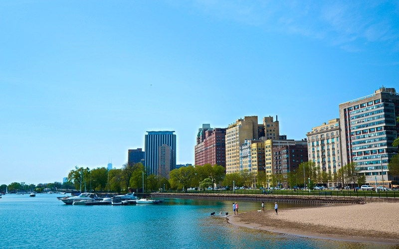Chicago Apartments, Lakeview, Belmont Harbor Dog Beach