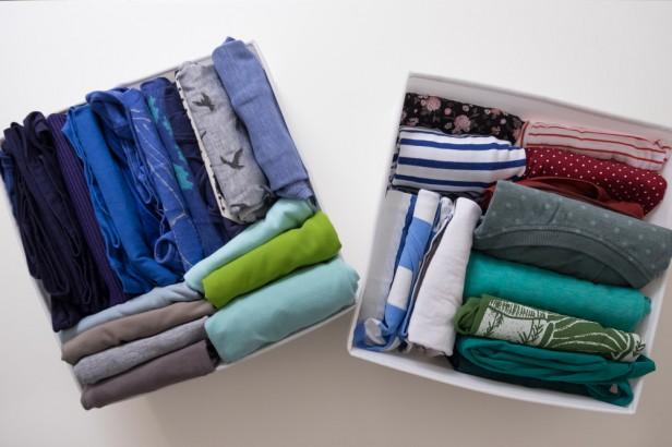 Chicago Apartments, KonMari, Folding Shirts