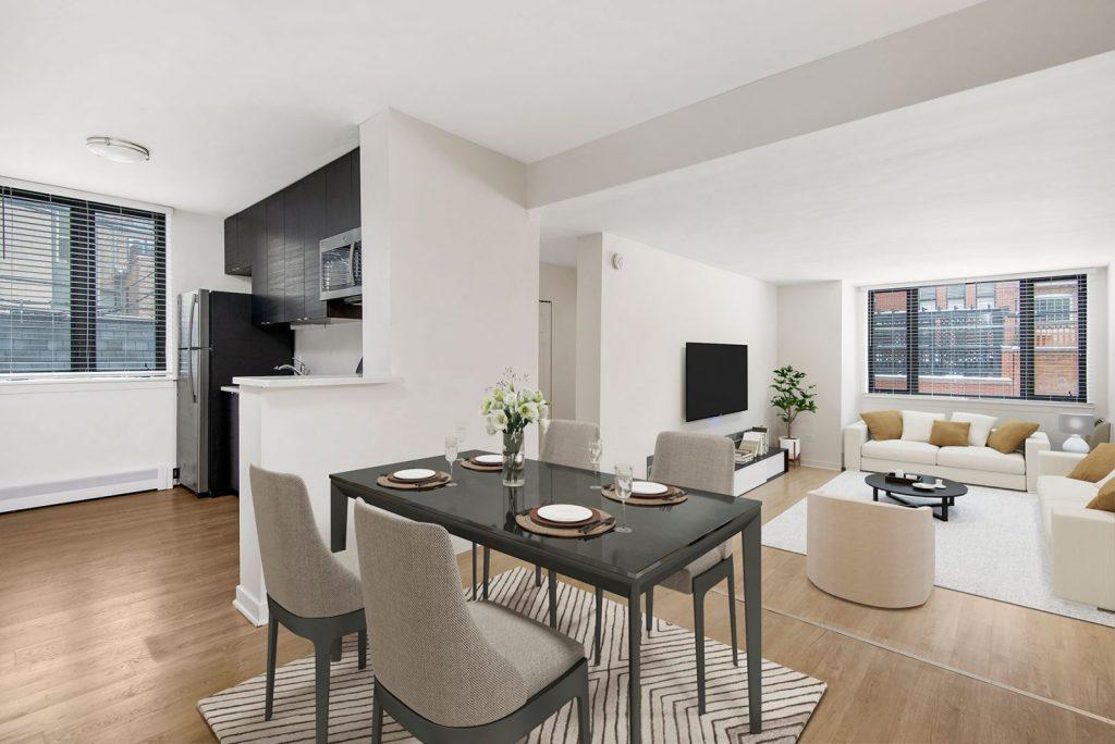 20 E Scott Dining Room Interior Chicago Apartments Gold Coast - 1