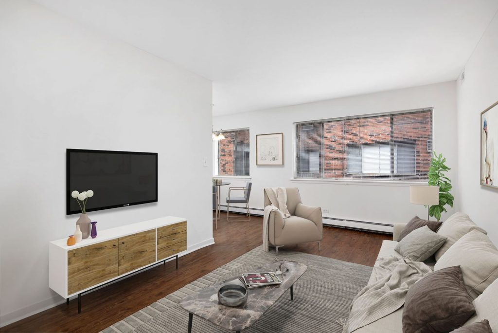 Chicago Apartments, Lakeview, 544 W Melrose Living Room