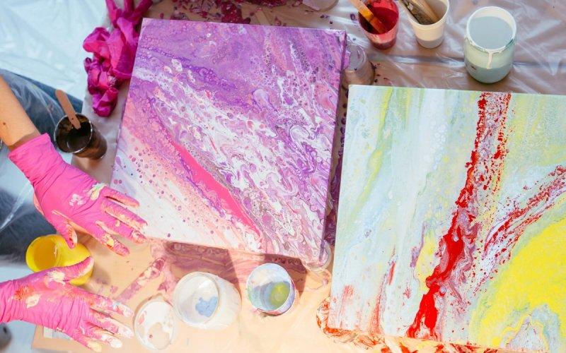 pour painting tutorial