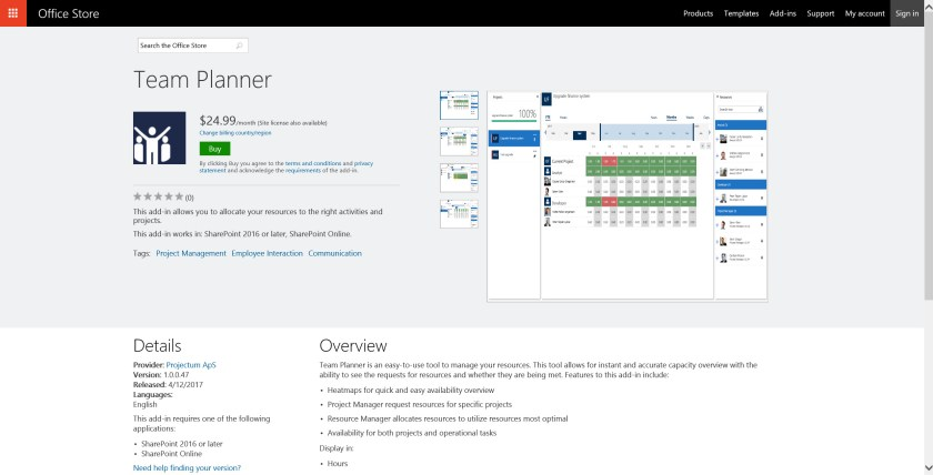 online office planner. [Team Planner] New App For Project Online - PPM And Work Management Tech Blog Office Planner