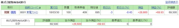 ぱぺまぺの東電の評価損益