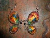 Boucles d'oreilles papillon 5€