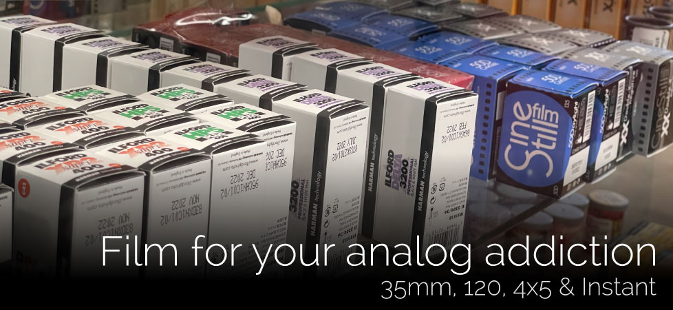 We sell 35mm, 120, 4x5 and Instant Film.