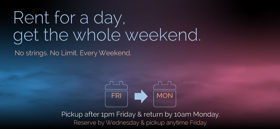 Weekend Rental Special