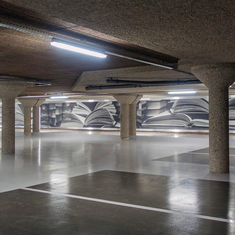 Megaprint in parkeergarage