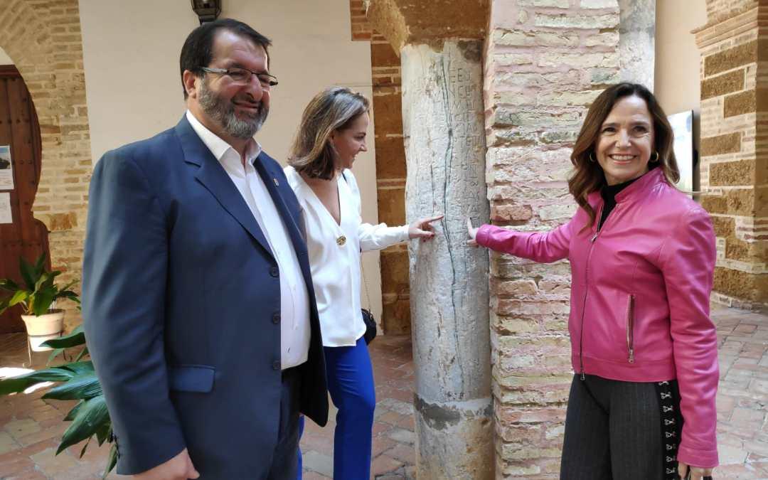 """Teresa Jiménez-Becerril: """"El gobierno de Pablo Casado apoyará la declaración del casco histórico de Carmona como Patrimonio de la Humanidad"""""""