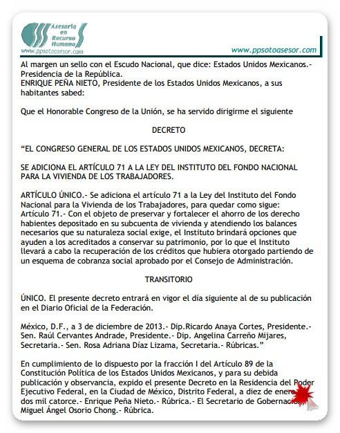 art. 71 Ley Info