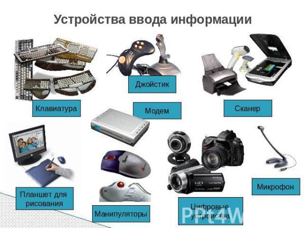 Устройство компьютера: Устройства ввода