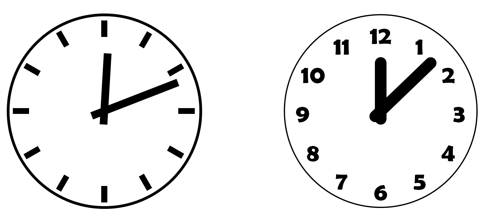 Drawing In PowerPoint – Clock Icons