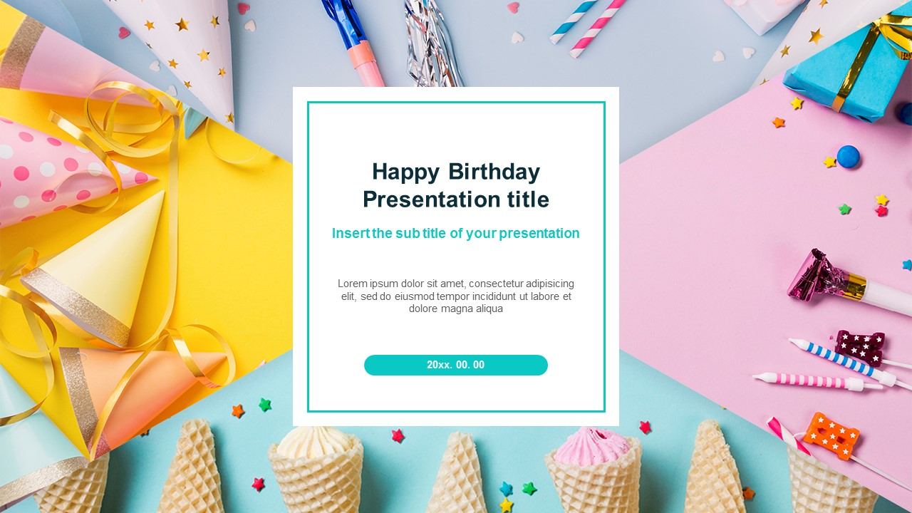 Happy Birthday Party Free Google Slides Theme And