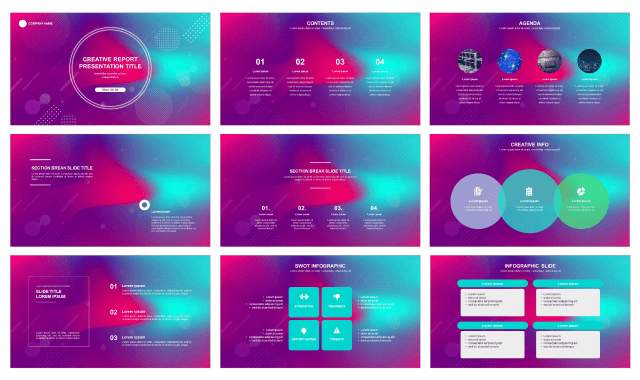 Creative Report Free Ppt Template And Free Google