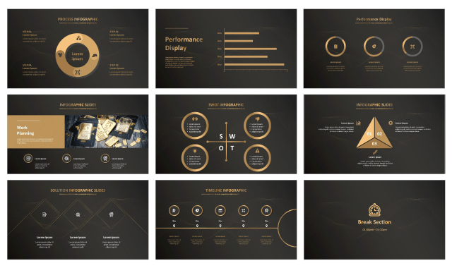 Black And Gold Free Google Slides Theme And Free Powerpoint