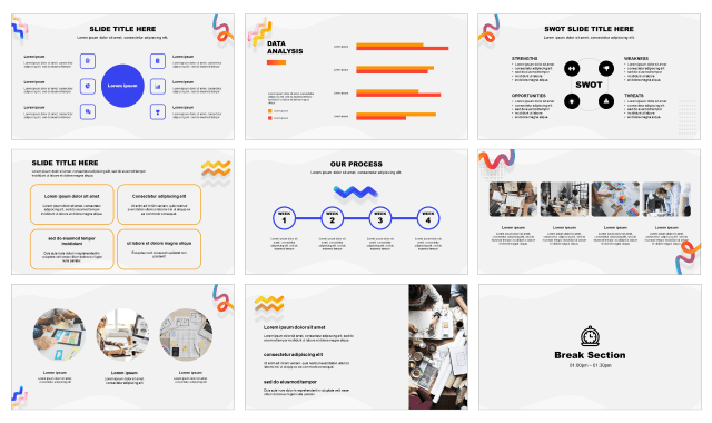 Abstract Frame Free Presentation Templates Ppt Google