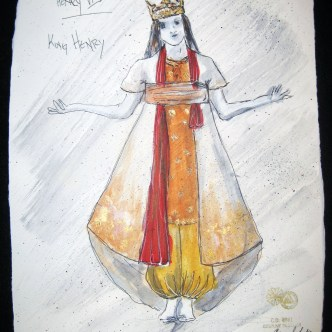 Henry - Henry VI (combined) - Costume Sketch by Rebecca Lustig