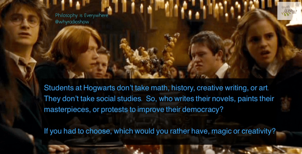 Why is there no real education in the Harry Potter books?