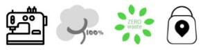 iconos producto textil artesano sostenible residuo cero km0