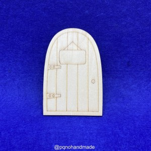Puerta del ratoncito pérez o hada de los dientes con cartel para pintar manualidades
