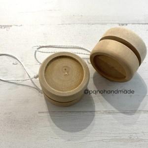 yoyo de madera natural