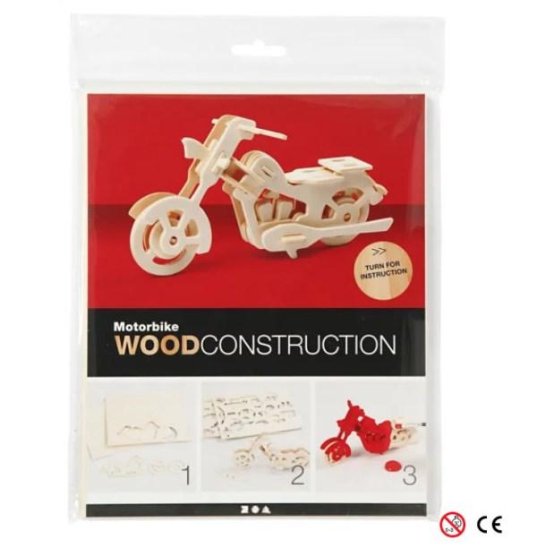motocicleta para montar 3D y pintar manualidades paquete