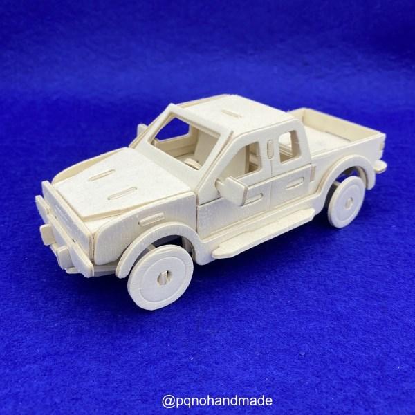 Coche furgoneta pickup para montar 3D y pintar de lado manualidades