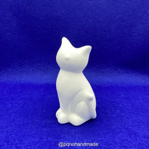 Gato hucha de cerámica para pintar manualidades