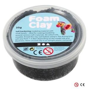 Plastilina Foam Clay negro para decorar manualidades