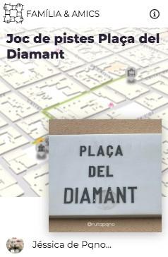 juego pistas pqno plaça diamant explorins