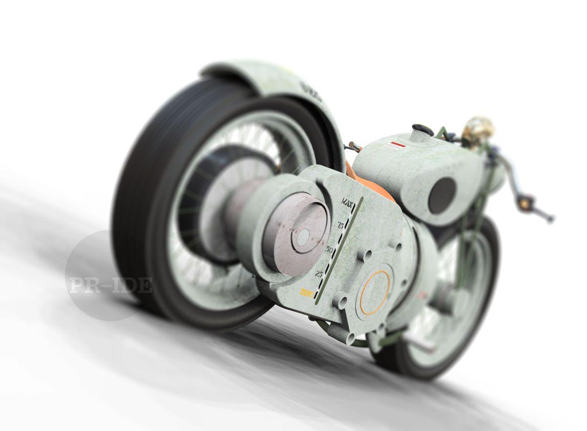 turbine powered motorcycle