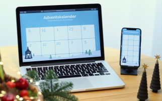 Laptop und Smartphone - Digitaler Adventskalender