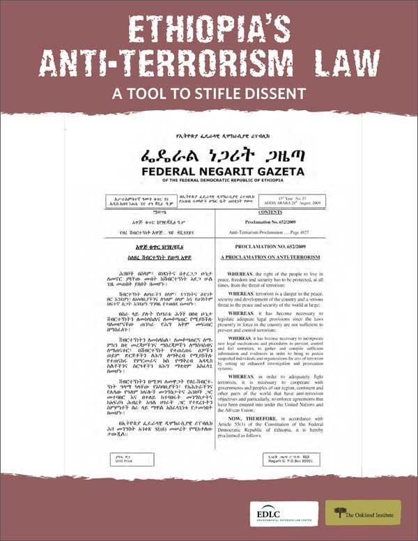 Ethiopia's Anti-Terrorism Law Cover