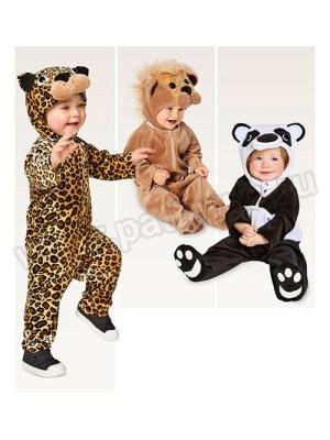 Выкройка Burda №2355 — Карнавальные костюмы: комбинезон Зверюшки: Леопард, Лев, Панда