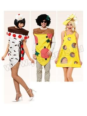 Выкройка Burda №2359 — Карнавальные костюмы: Пицца, Торт, Сыр