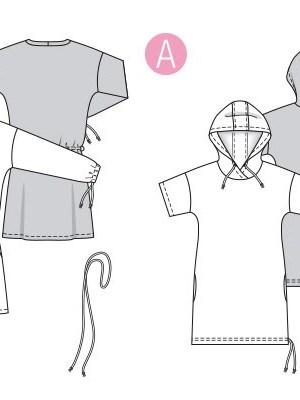 Выкройка Burda  6310 — Платье-рубашка прямое
