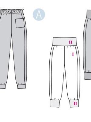 Выкройка Burda №6317 — Спортивные брюки