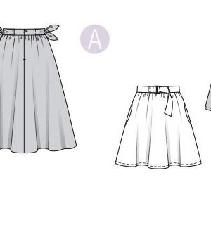 Выкройка Burda №6319 — Широкая юбка с поясом