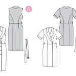 Выкройка Burda №6321 — Платье-футляр