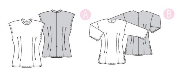 Выкройка Burda №6325 — Топ, рубашка